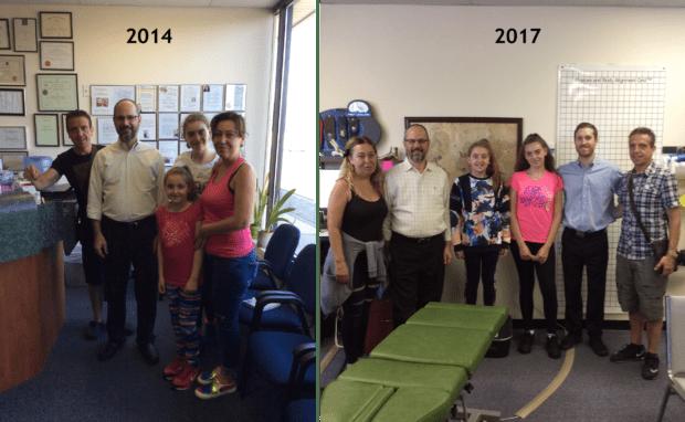 Kosta family visits